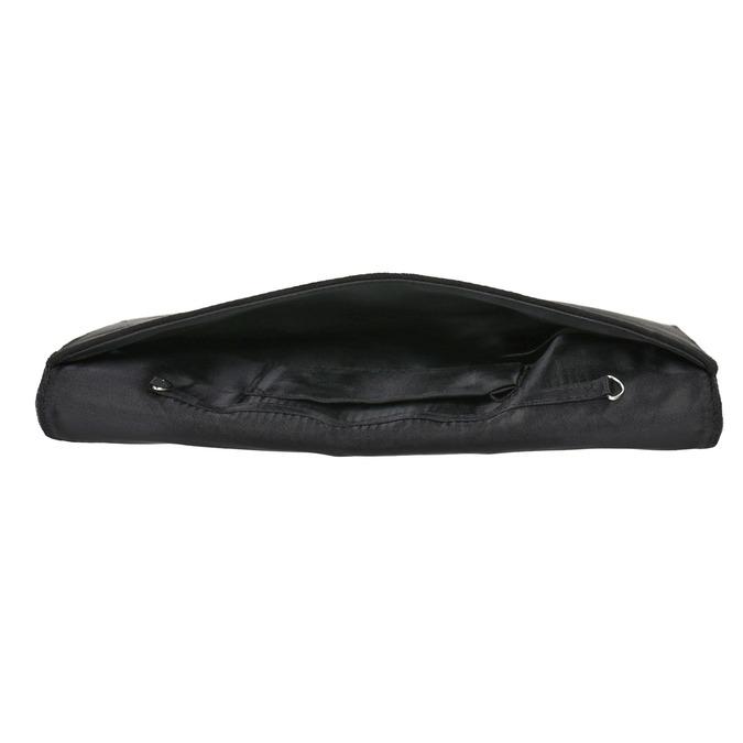 Obálkové psaníčko se stříbrným řetízkem bata, černá, 969-6644 - 15
