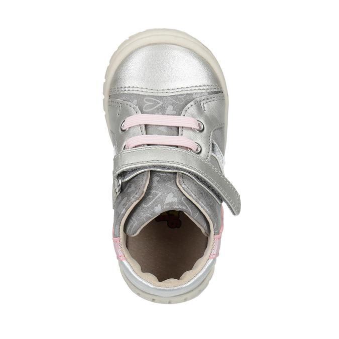 Dívčí kotníčková obuv stříbrná bubblegummers, šedá, 121-2614 - 19
