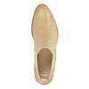 Kožené Chelsea boty s perforací bata, béžová, 596-3651 - 19