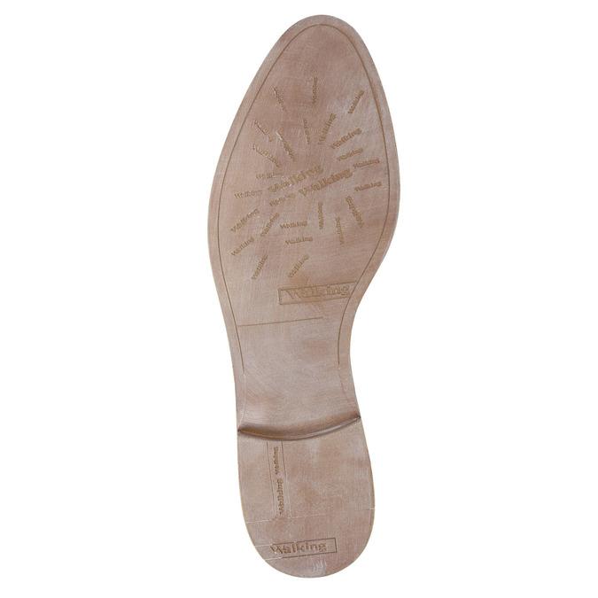 Kožené Chelsea boty s perforací bata, šedá, 596-1651 - 26