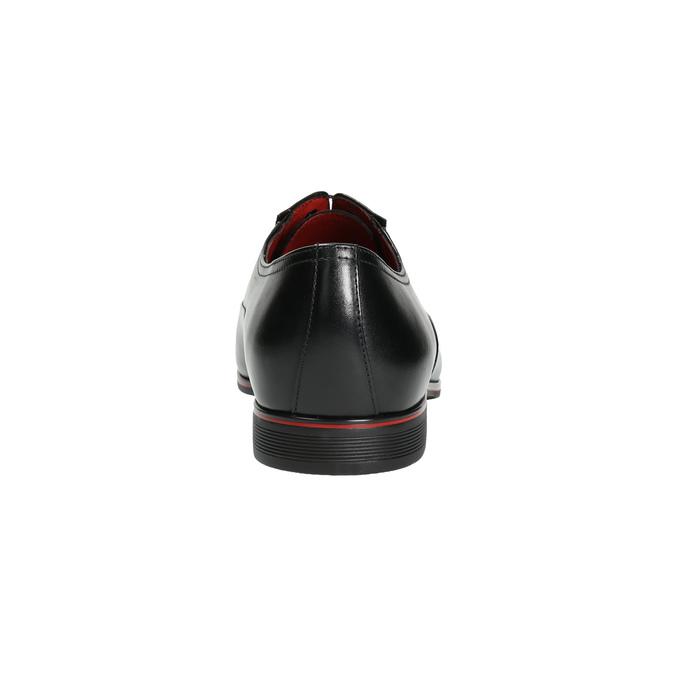 Černé kožené Oxford polobotky conhpol, černá, 824-6868 - 17