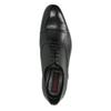 Černé kožené polobotky v Oxford střihu conhpol, černá, 824-6897 - 19