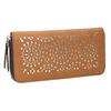 Hnědá peněženka s perforací bata, hnědá, 941-3154 - 13