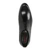 Černé kožené polobotky se zdobením na Derbě conhpol, černá, 824-6854 - 19
