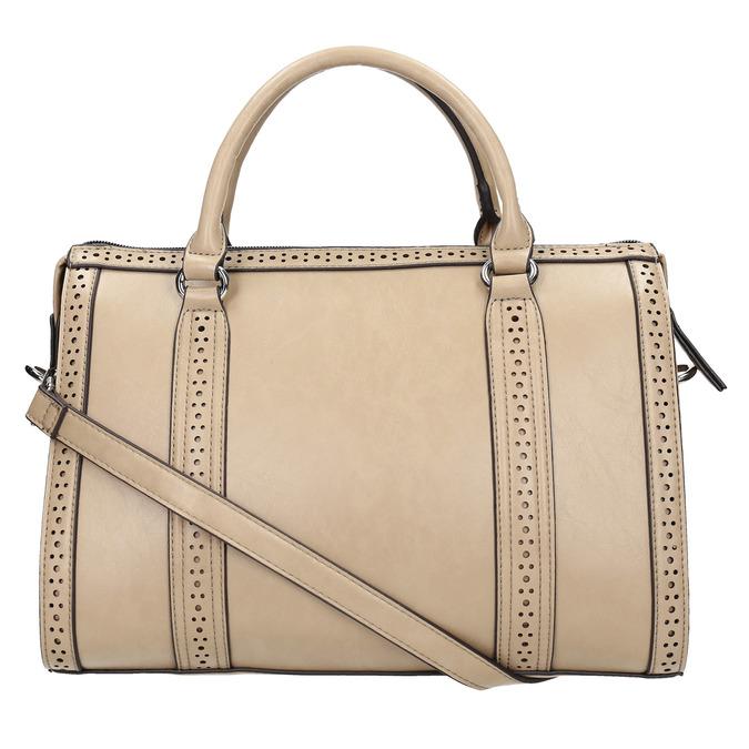 Dámská kabelka s perforací bata, béžová, 961-8868 - 19