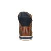 Kožené kotníčkové tenisky se zipem bata, hnědá, 844-3632 - 17