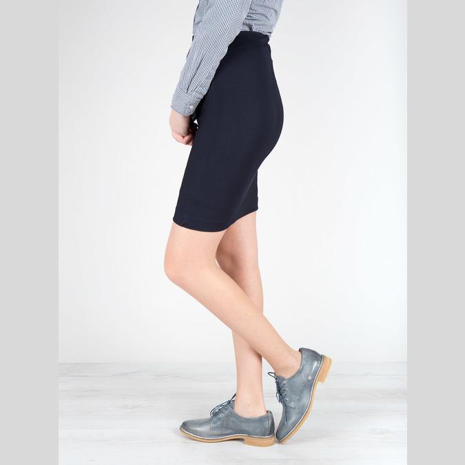 Dámské kožené polobotky modré bata, modrá, 2021-526-9621 - 18