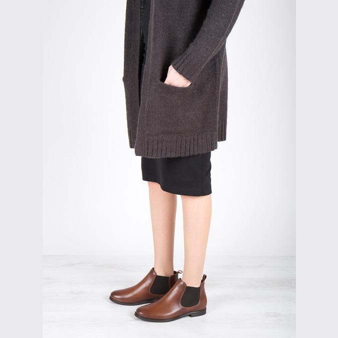 Kožené hnědé Chelsea Boots bata, hnědá, 594-4604 - 18