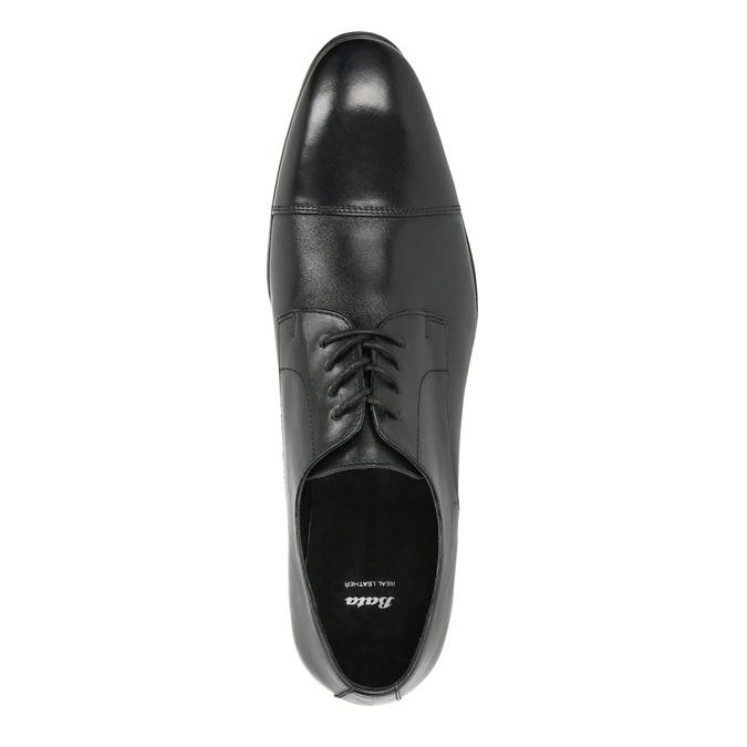 Černé kožené polobotky bata, černá, 824-6814 - 19