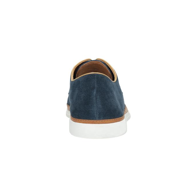 Ležérní kožené polobotky bata, modrá, 843-9623 - 17