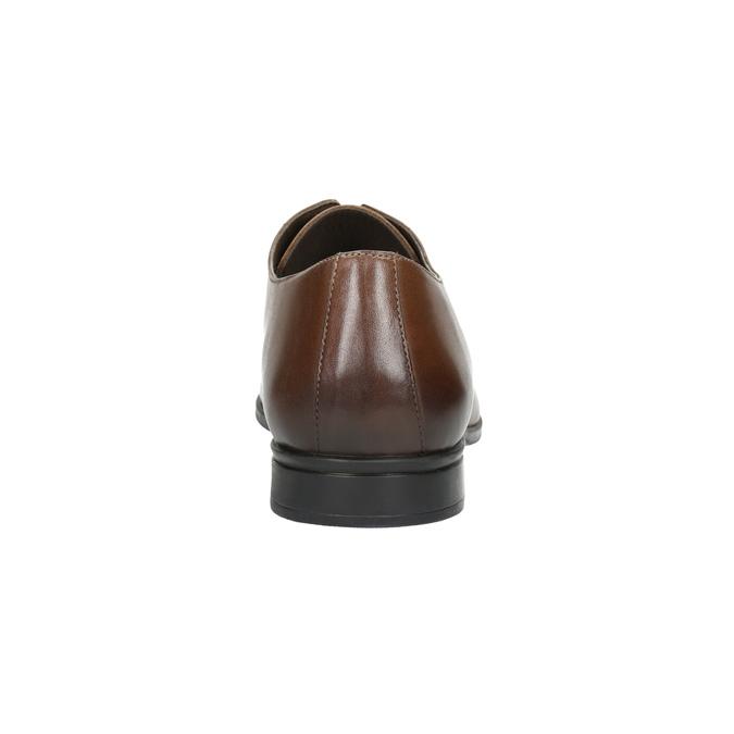 Hnědé kožené polobotky bata, hnědá, 826-3814 - 17