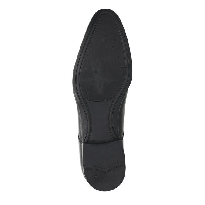 Černé kožené polobotky bata, černá, 824-6814 - 26