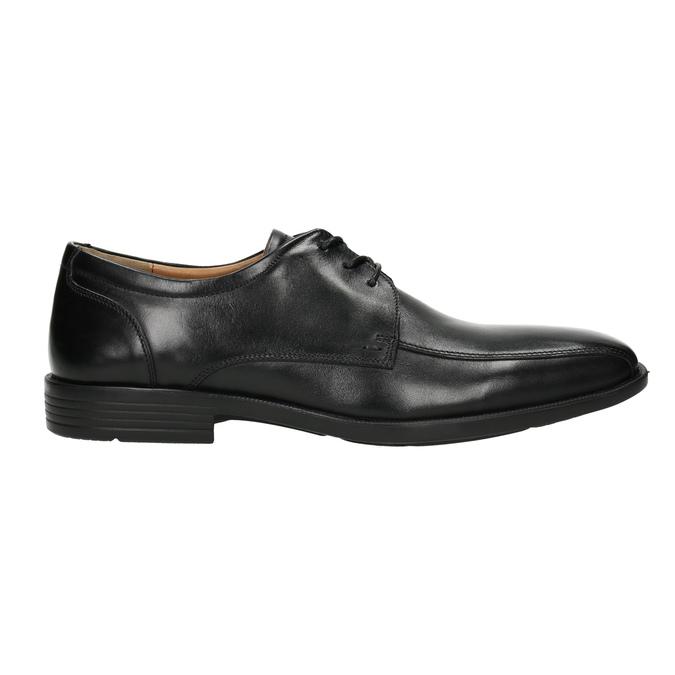 Pánské kožené polobotky s prošitím přes špici bata, černá, 824-6815 - 15
