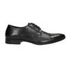 Černé kožené polobotky bata, černá, 824-6814 - 15