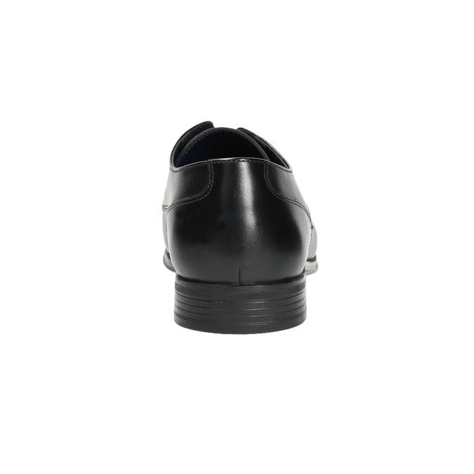 Pánské kožené polobotky černé bata, černá, 824-6813 - 17