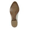 Kožené kotníčkové kozačky s perforací bata, bílá, 596-1647 - 26