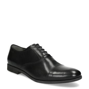 Černé kožené Oxford polobotky vagabond, černá, 824-6048 - 13