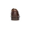 Hnědé kožené polobotky pánské bata, hnědá, 826-4800 - 17
