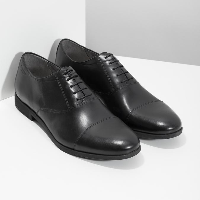 Černé kožené Oxford polobotky vagabond, černá, 824-6048 - 26