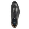 Pánské kožené polobotky černé bata, černá, 824-6800 - 19