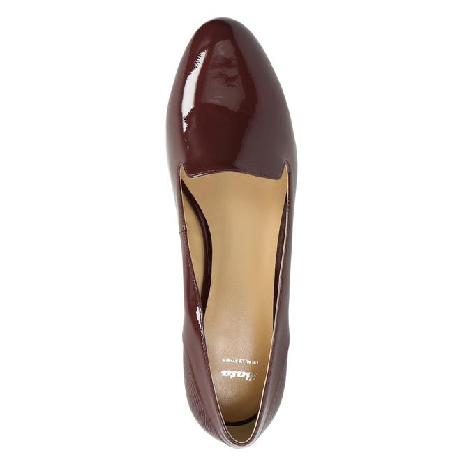 Lakované dámské Loafers bata, červená, 518-5600 - 19
