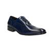 Modré kožené Oxford polobotky bata, modrá, 826-9822 - 13