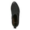 Kožené kotníčkové kozačky černé bata, černá, 596-6633 - 19