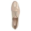 Krémové lakované polobotky bata, béžová, 2021-528-8634 - 19