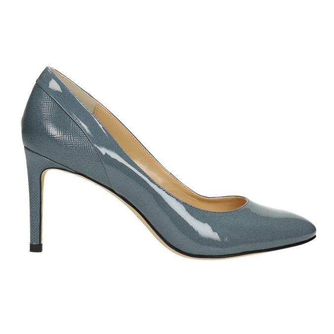 Kožené dámské lodičky insolia, modrá, 728-9643 - 15