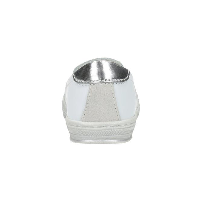 Kožené dětské Slip-on bubblegummers, bílá, 123-1600 - 17