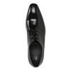 Pánské kožené polobotky černé bata, černá, 824-6818 - 19