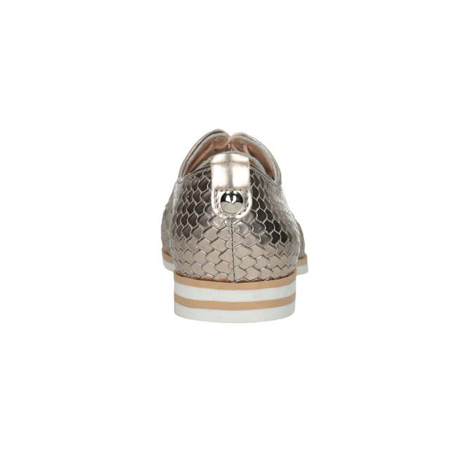 Kožené polobotky s motivem šupin bata, zlatá, 526-8627 - 17