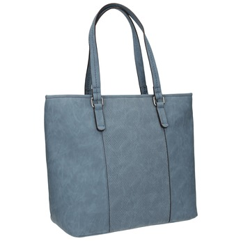 Modrá kabelka s perforovaným detailem bata, modrá, 961-9711 - 13