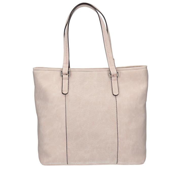 Růžová kabelka s perforovaným detailem bata, růžová, 961-5711 - 26