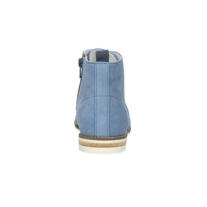 Kožená obuv nad kotníky bata, modrá, 593-9602 - 17