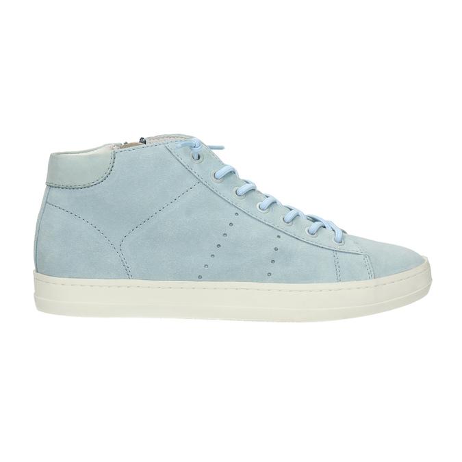 Dámské kožené tenisky ke kotníkům bata, modrá, 523-9602 - 15