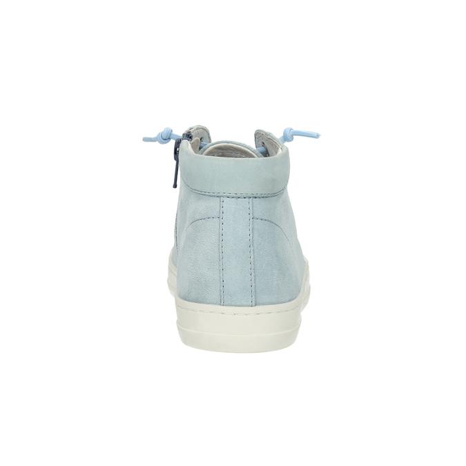 Dámské kožené tenisky ke kotníkům bata, modrá, 523-9602 - 17