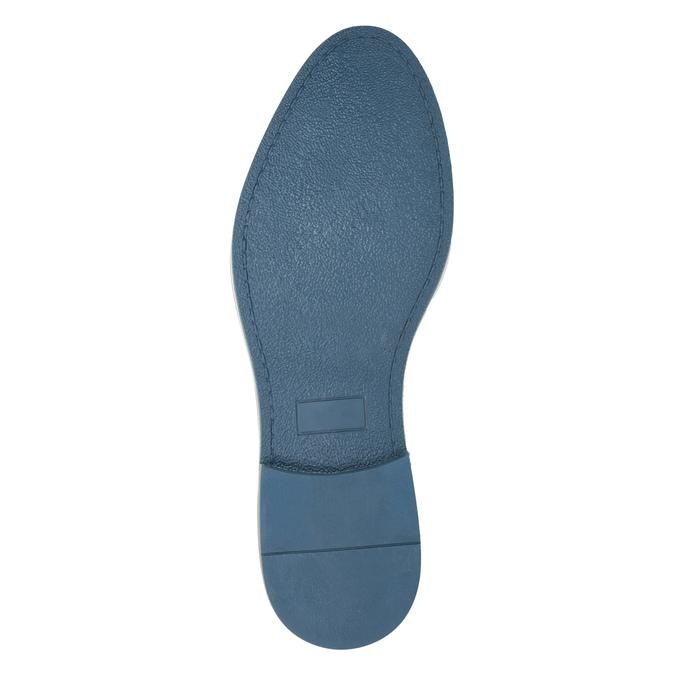 Kožené pánské polobotky černé bata, modrá, 826-6793 - 26