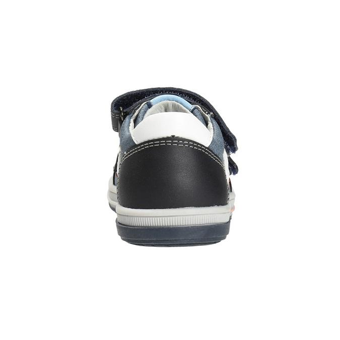 Dětské kožené boty na suché zipy bubblegummers, modrá, 116-9600 - 15