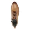 Kožená kotníčková obuv s perforací bata, hnědá, 596-4645 - 19