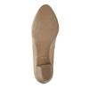 Kožené lodičky na nižším podpatku pillow-padding, béžová, 626-8637 - 26