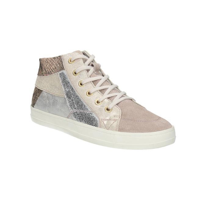Dámské kožené tenisky bata, růžová, 526-5614 - 13