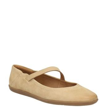Dámské kožené baleríny bata, béžová, 526-8620 - 13
