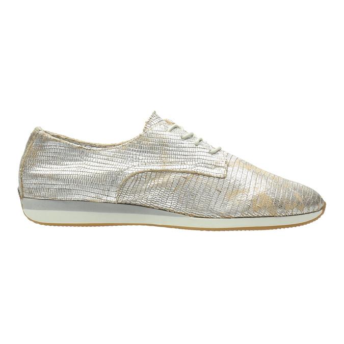 Zlaté kožené tenisky bata, stříbrná, 526-8633 - 15
