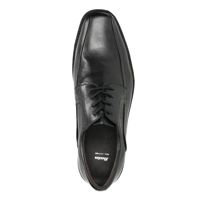 Pánské kožené polobotky bata, černá, 824-6839 - 19