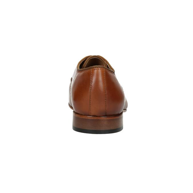 Pánské kožené polobotky bata, hnědá, 826-3836 - 17