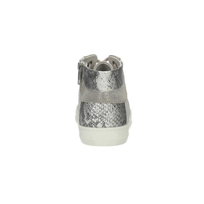 Kožené kotníčkové tenisky se vzorem bata, šedá, 526-2614 - 17
