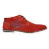 Červené kožené Chukka Boots bugatti, červená, 823-5608 - 15