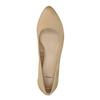 Kožené lodičky na nízkém podpatku bata, béžová, 626-8639 - 19