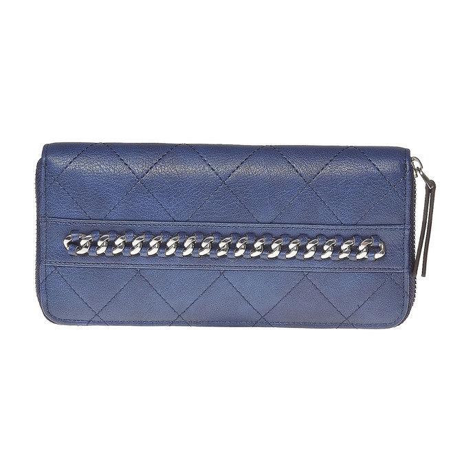 Dámská peněženka s prošíváním bata, modrá, 941-9146 - 17